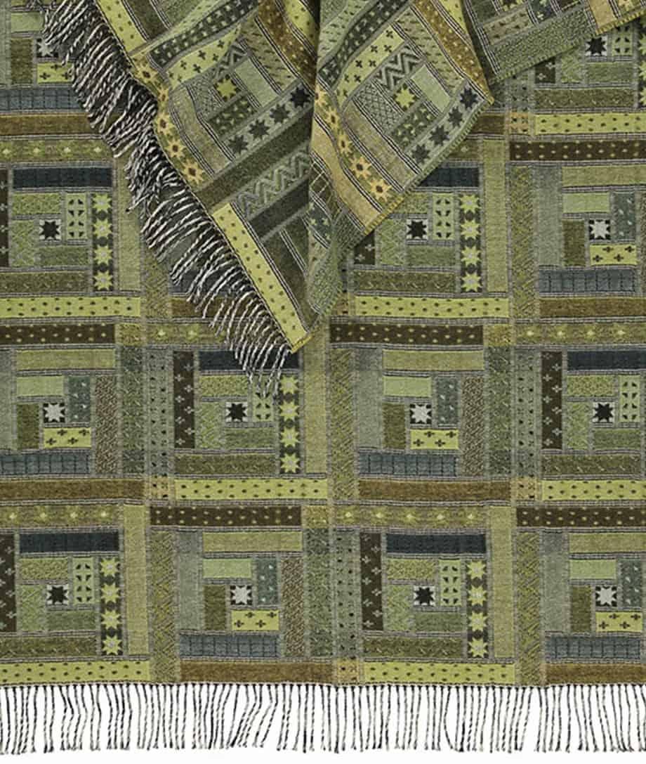 merino wool patchwork design sofa throw