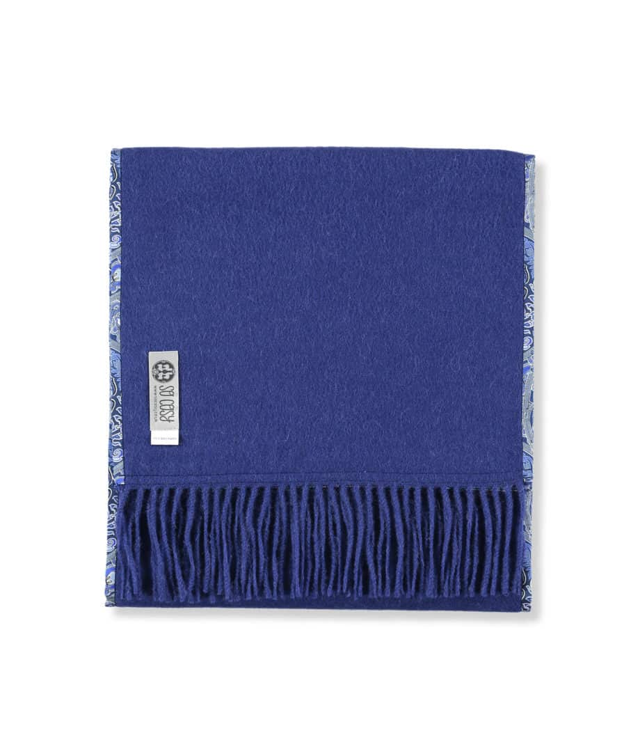 blue liberty london silk fabric luxury scarf