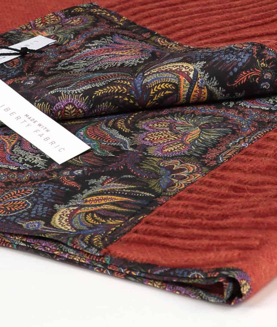 orange so cosy scarf liberty london paisley corals silk