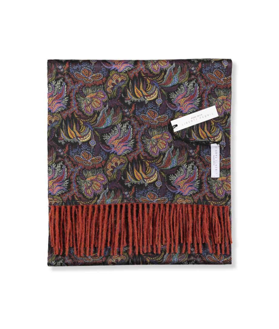 luxury scarf liberty london paisley corals print