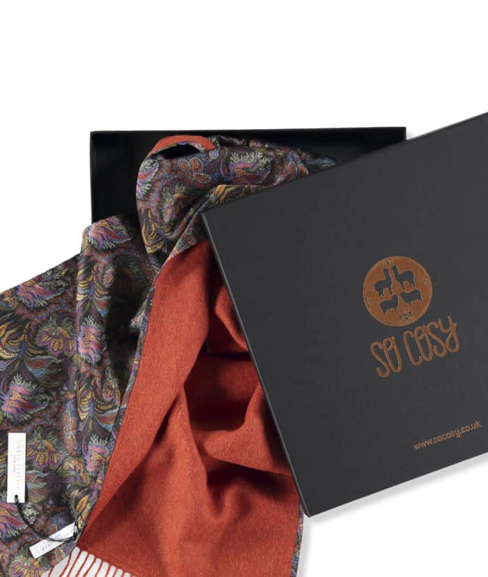 luxury soft scarf in gift box