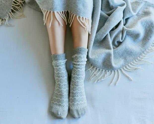 Wool socks and blanket