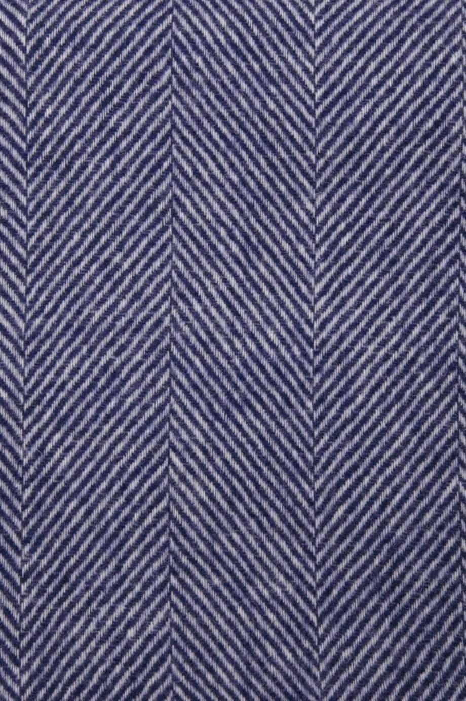 night navy dani herringbone pure wool throw