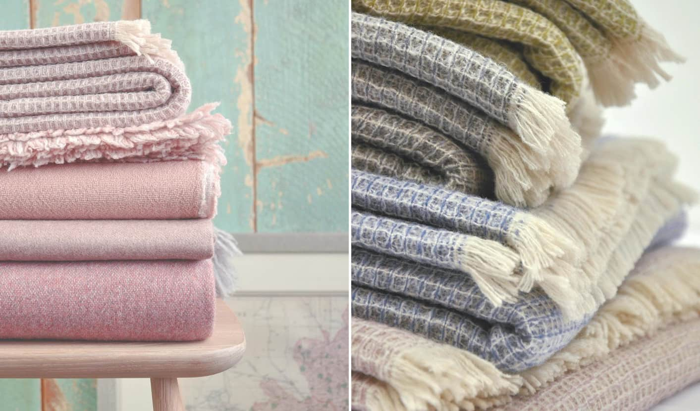 Spring style wool blankets