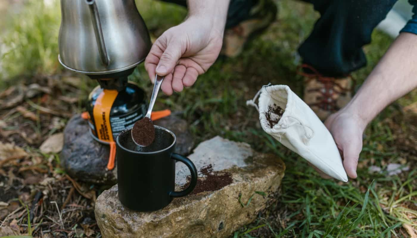 brew coffee while camping