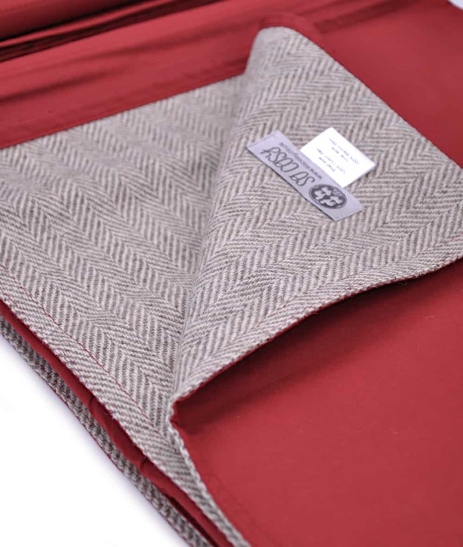 natural wool tweed best quality picnic-blanket