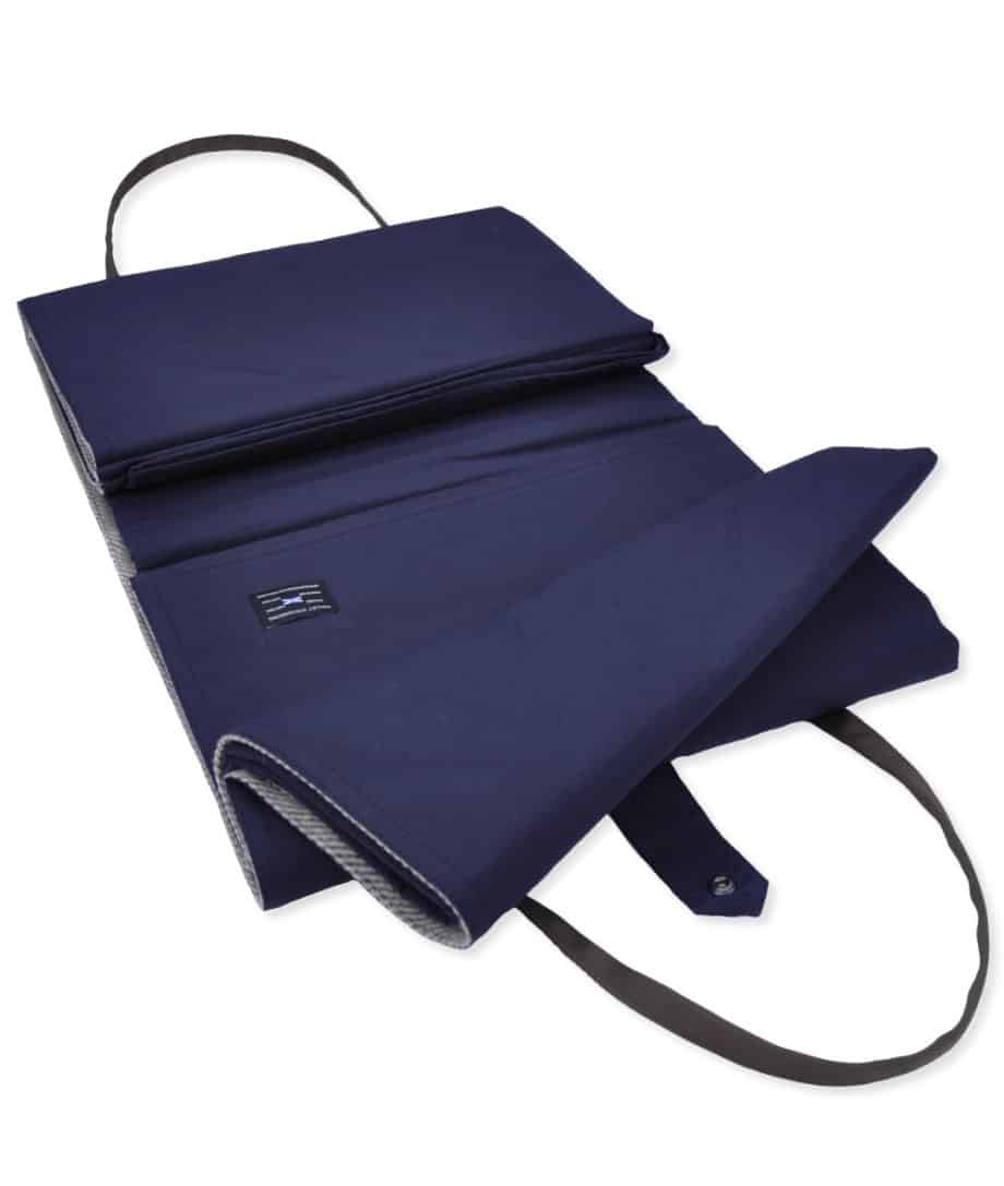 fold-up-luxury-so-cosy-picnic-blanket-in-violet-navy-colour-wax-cotton-eco-wool