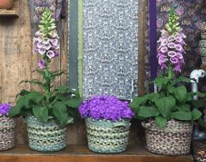 Jute baskets used as jute planters
