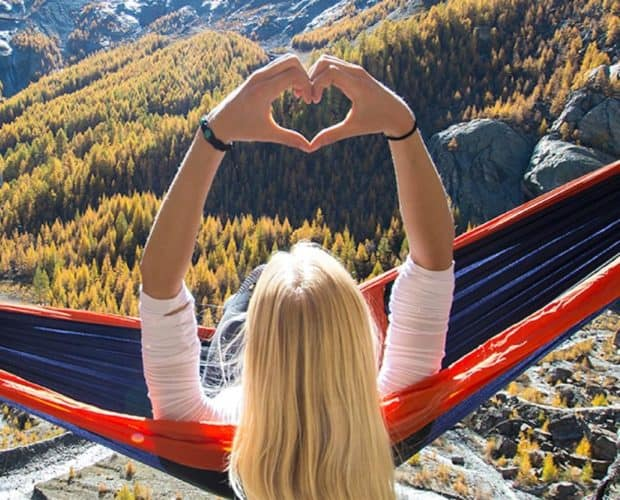 Hammock and lovely view