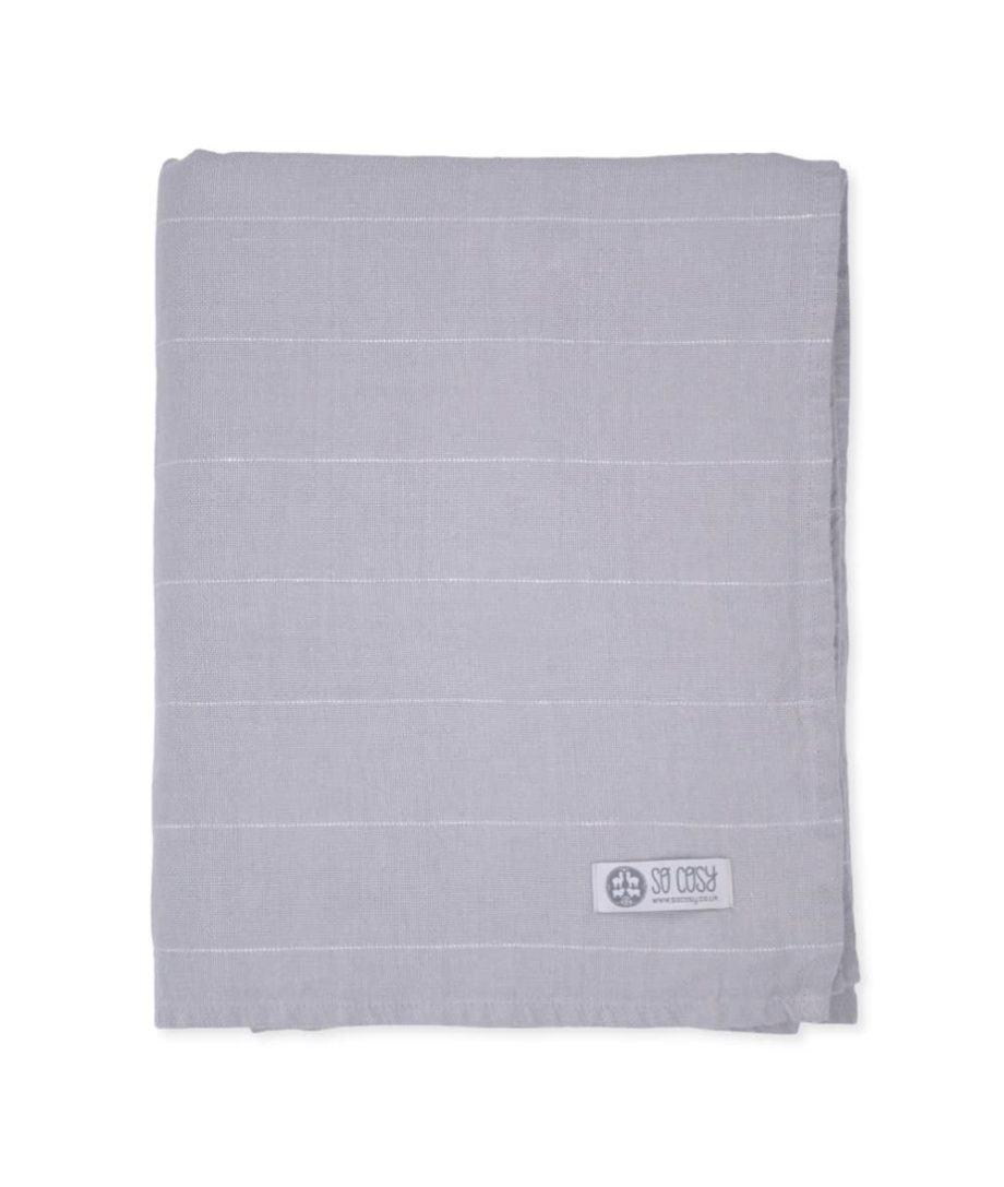 smooth grey linen throw