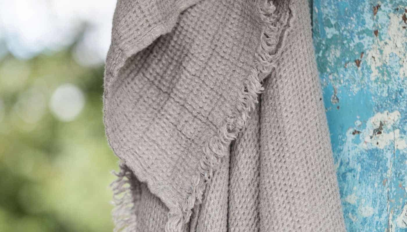soft washed natural linen throw natural taupe