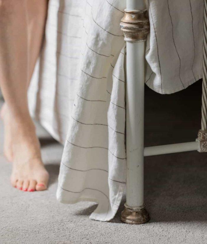 off white bedspread blanket
