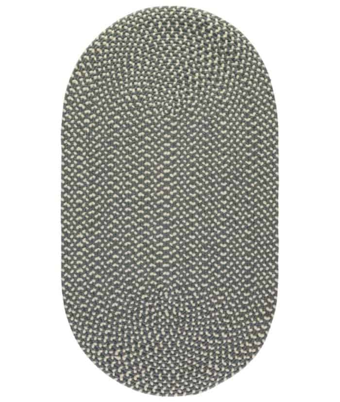pewter grey recycled plastic rug