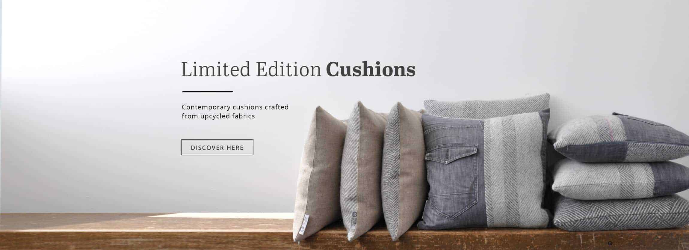 so cosy wool and denim limited edition cushions